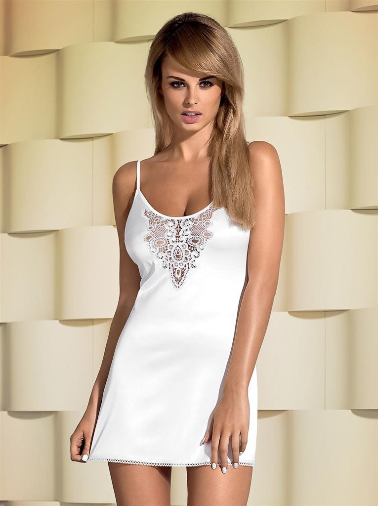 Košilka Lelia chemise - Obsessive S/M Bílá